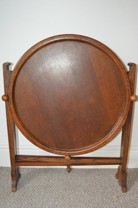 Revertable - Round Folding Occasional and Card Table, England, ca.1920