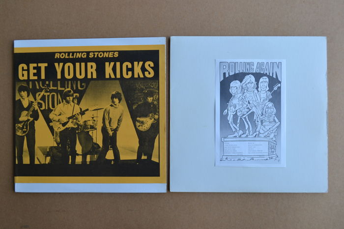 "the Rolling Stones - lot of 2 rare unofficial albums  ""Get your Kicks""  &  ""Rolling Again"""