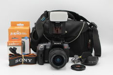Sony a550 with Sony 18-55 lens, Metz 36AF -5 Flash and VanGuard bag - (2913)