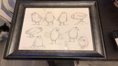 """""""Star Wars - The Last Jedi Porg character study sheet an original drawing by Jake Lunt Davies - Size: A3 - 2017"""""""