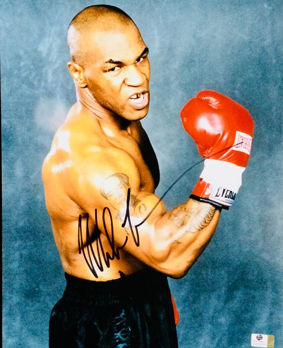 Mike Tyson / Authentic & Original Autograph in a  Professional Signed Photo ( 28x35cm ) - with Certificate of Authenticity GlobalAuthentics