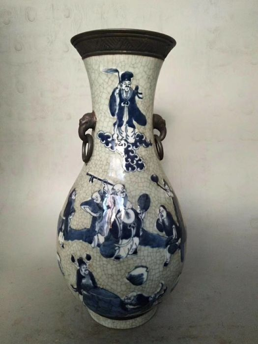 Vase - Description 8 Immortal - China - late 19th/early 20th C