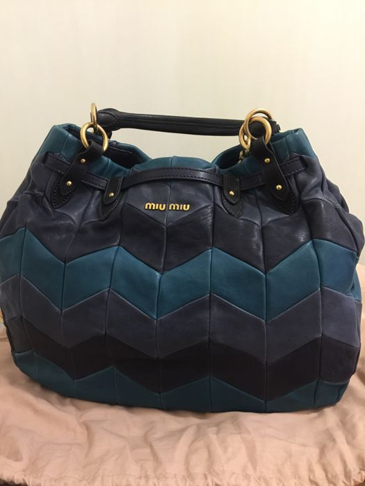 Miu Miu - Chevron Leather Shoulder bag