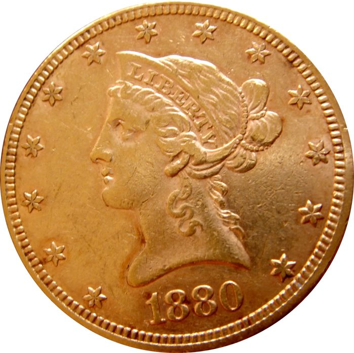 United States -  10 Dollars 1880 Liberty Head - Gold