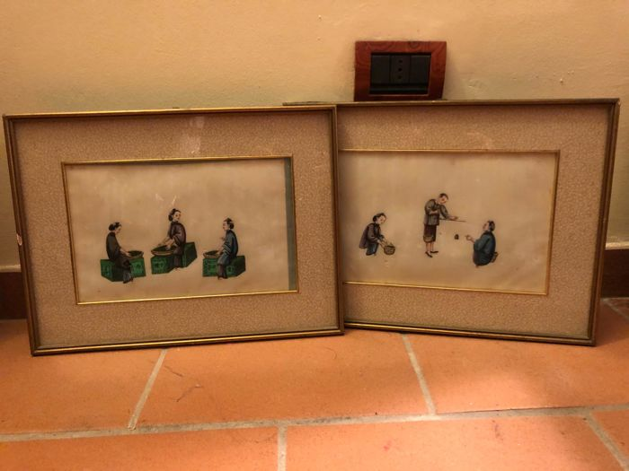 Lot of 2 paintings - China - early 20th century