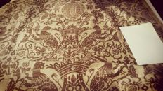 6.5 meters of furnishing cloth in raw linen. Italy. Size: 6.5 x 1.25 mt - 3 kg