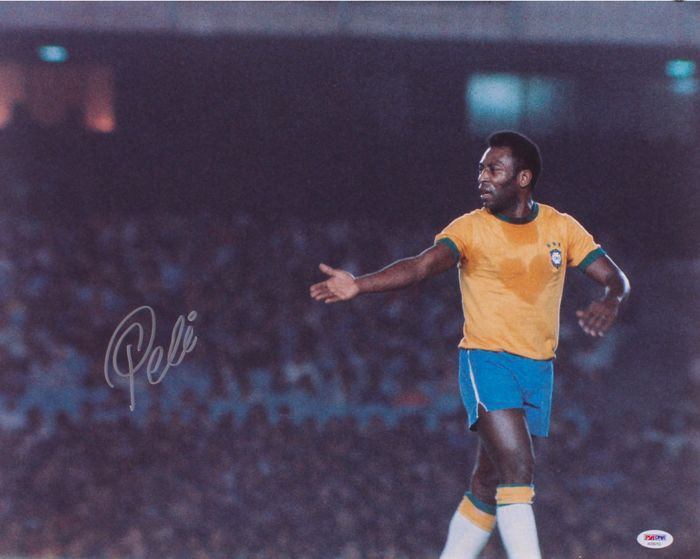 "Pele Signed ""Brazil"" Photo"