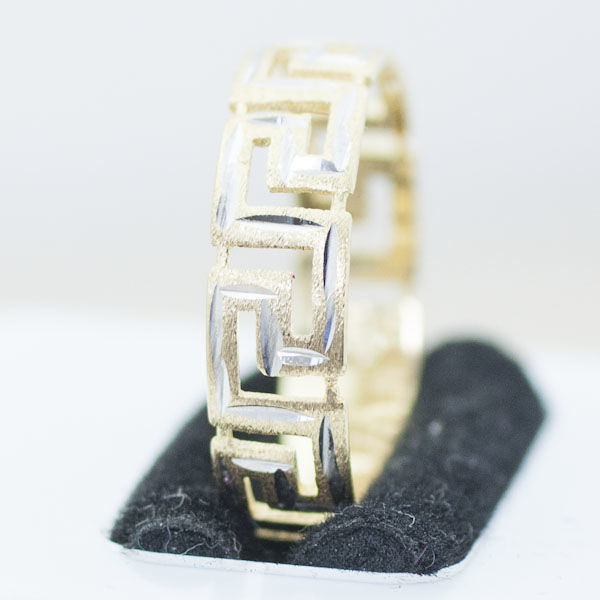Ring in 18k yellow and white gold
