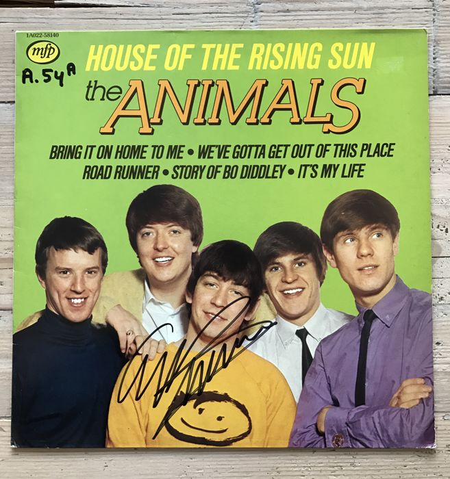 "The Animals: ""House of the Rising Sun: LPnalbum signed by Eric Burdon"