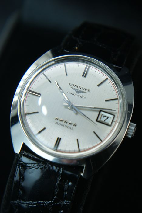 "Longines Automatic ""Admiral five stars"" - classic Swiss Men's watch - Heren - 1960-1970"