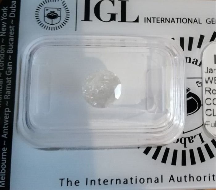 Brilliant cut diamond, 1.70 ct, I/I3, IGL Certificate