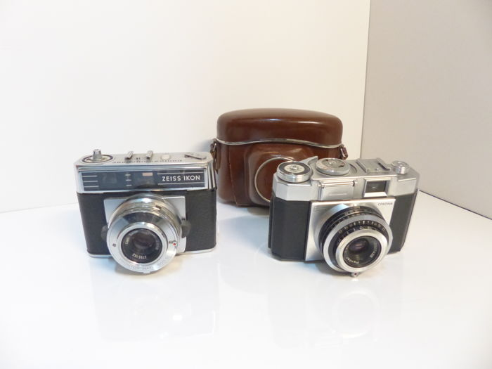 zeiss ikon contina IIa lens planar with case (uncommon) and zeiss contessamat SBE 1966 (RARE)