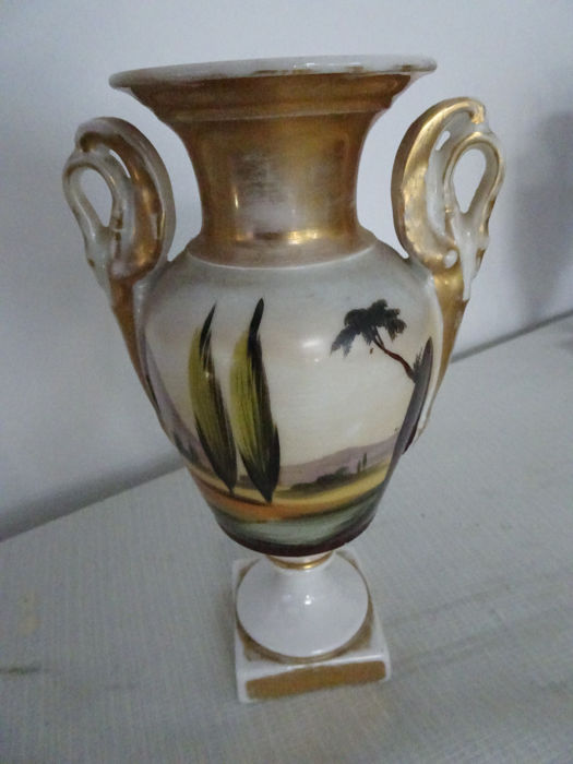 A Pair Of Vases With Religious Depictions Brussels Middle Of The