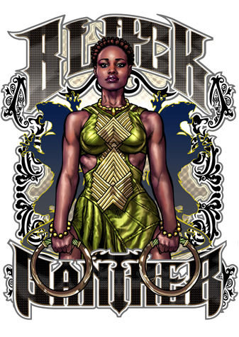Nakia - Black Panther - Limited Edition Signed Metal Print By David Bircham - (2018)
