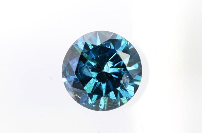 Fancy Blue Diamond - 0.33 ct - SI2 - Excellent Cut