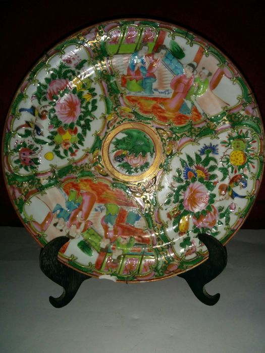 Fine porcelain plate from a Cantonese family, China, 1870-1890.