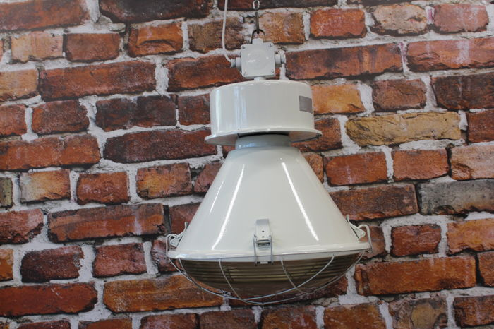 Unkown designer - Old industrial light white effect - Renewed