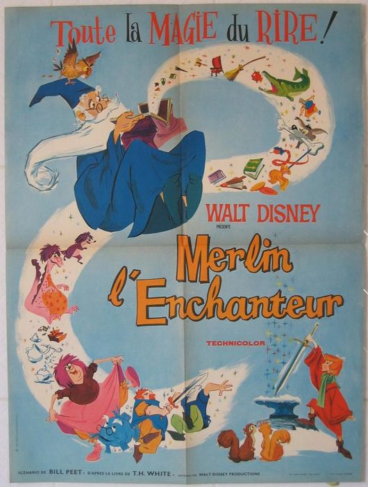 Merlin l'enchanteur / The Sword in the Stone (Cartoon, Walt Disney) - 1963