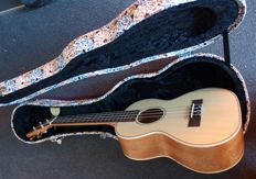 New Tenor Ukulele with luxury wooden case with rubberoid styling