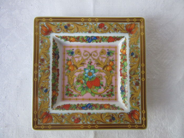 Rosenthal Meets Versace - Le Jardin de Papillons - Small Square Dish - Plate - Pin Tray