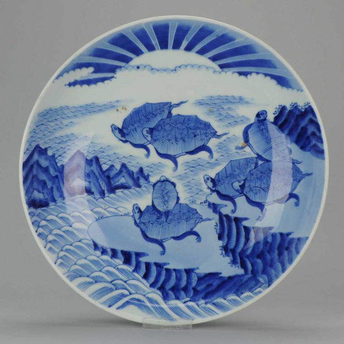 A 38cm Arita charger with Turtles, Chenghua marked - Japan - 19th century