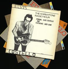 "Lot of four Elvis Costello top albums including ""The Kornyfone radio hour (feat. Nick Lowe)"", ""My aim is true"", ""This year's model"" and ""Get happy!"""