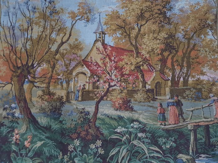 Vintage pictorial tapestry, Canada 68 cm x 80 cm