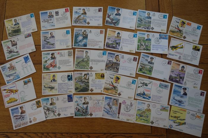 R.A.F. ROYAL AIR FORCE set of 30 FDC - historical documents