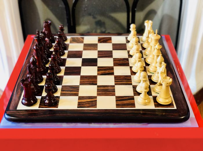 Ferrari Red Rosewood Chess Set With Board And Box Catawiki