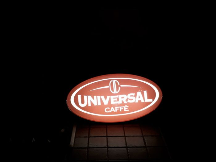 UNIVERSAL CAFE lighted sign