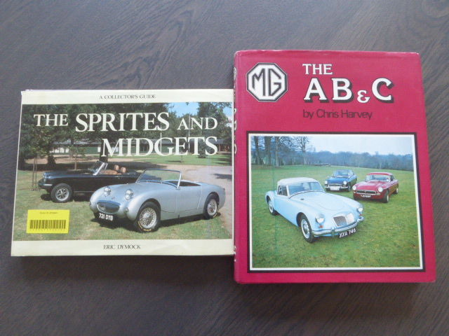 Books - Lot; MG AB&C - The Sprites and Midgets - 1980/89