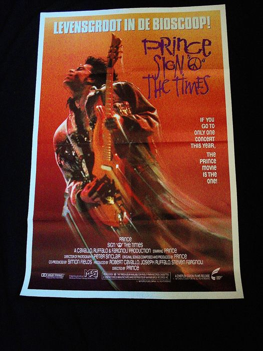 Filmposter Sign O The Times Original Prince - Very Rare Rejected Dutch Edition 1987.