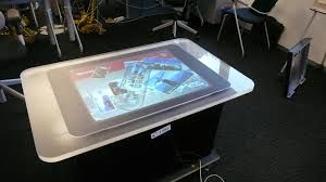 Microsoft Surface table in flightcase