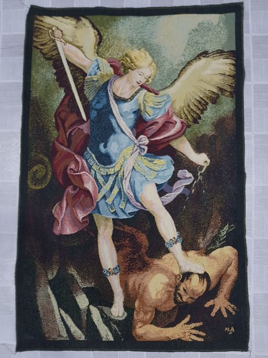 Vintage pictorial tapestry , Italy 68 cm x 44 cm