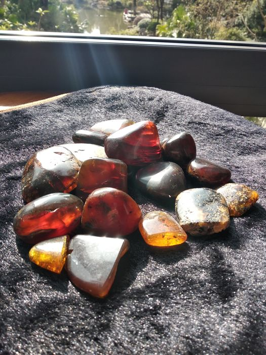 Burma amber (Pao Guang). Weighs 315 gm - Size 63-35 mm