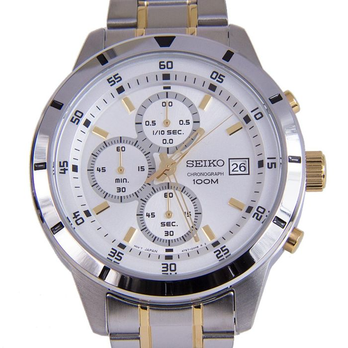 Seiko - Sports Classic Silver Edition -    Chronograph Caliber 4T57  - Heren - 2011-heden