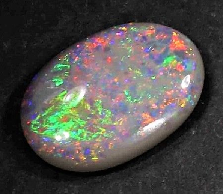 Top Quality Solid Lightning Ridge Black Opal Cabochon - 2.90 ct