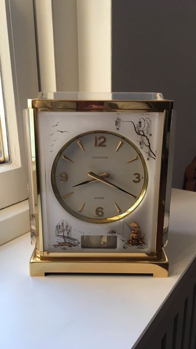 Jaeger LeCoultre Atmos Marina clock - With Eastern depiction