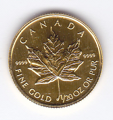 Canada - 1 Dollar 1994 'Maple leaf' - 1/20 oz gold