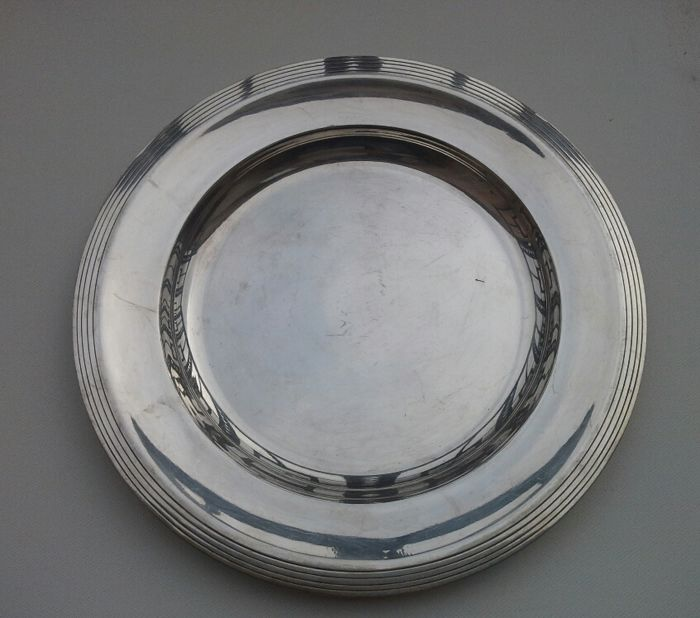 Christofle round serving plate
