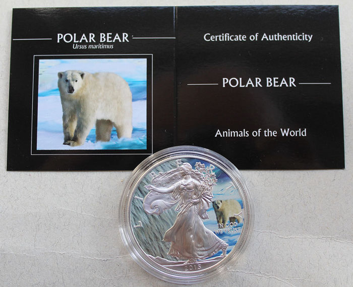 United States - Dollar 2015 Eagle 'Animal Polar Bear' - 1 oz silver