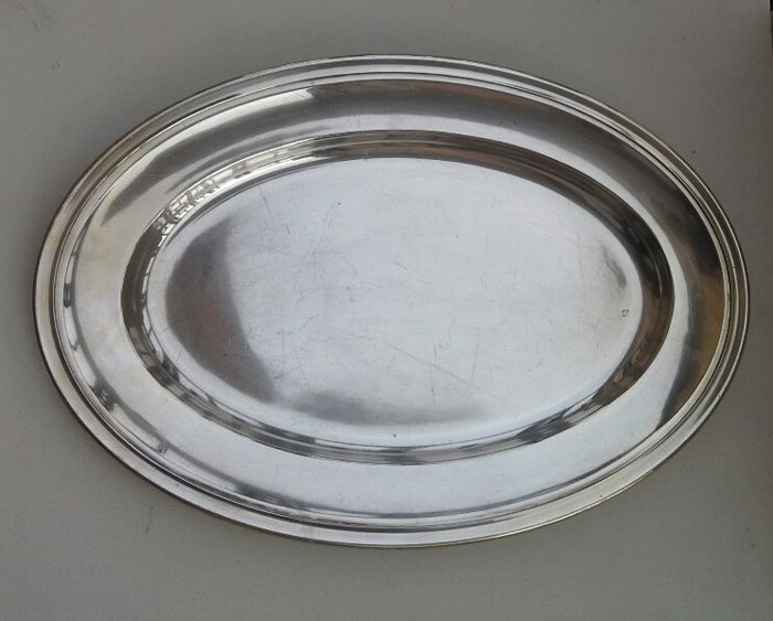 Christofle large oval serving plate
