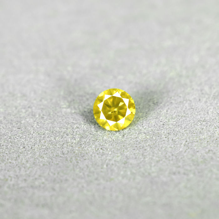 Intense yellow diamond - 0.36 ct