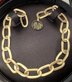 Pomellato - Necklace from Narciso collection in rose gold and smoky quartz