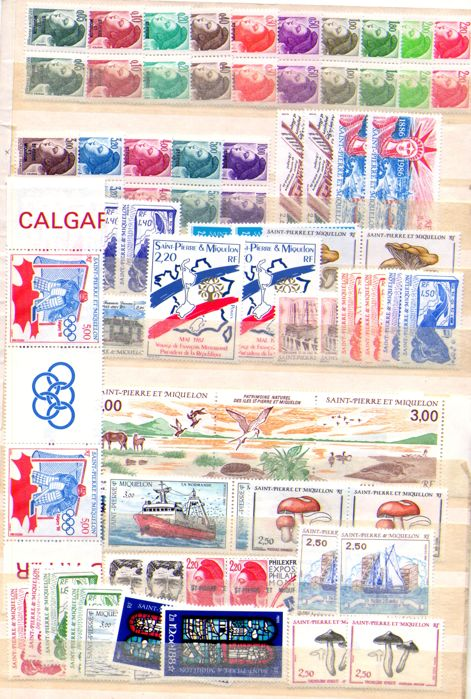 Saint Pierre and Miquelon 1986/2002 - Stamp Collection including complete years