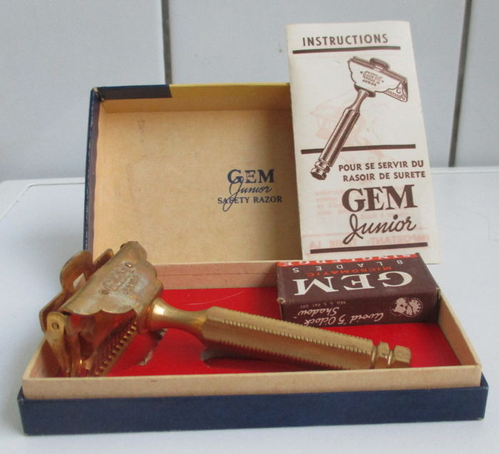 Beautiful unused shaving set - Gem Junior U.S.A. 1940-50.