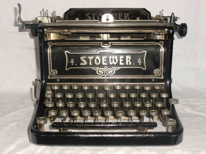 Very old and rare typewriter Stoewer model 4 of 1908