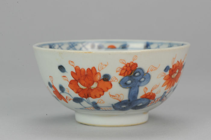 Perfect 18C Chinese Porcelain Bowl Imari FLowers China Antique - 18C - China