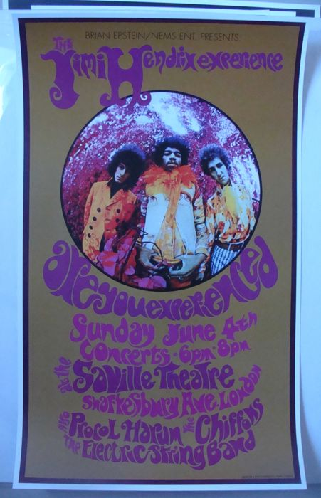 The Jimi Hendrix Are You Experienced The Saville London 1967