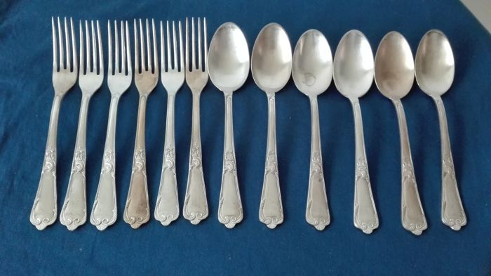 Vintage cutlery set - 1000 silver plated